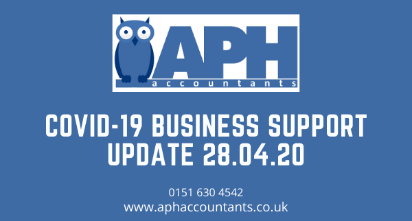 APH Accountants COVID-19 Business Support Update 28/04/20