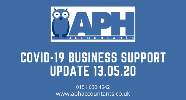 APH Accountants Wirral Accountants  Covid-19 Business Support Update 13.05.20 Merseyside Chartered Accountants